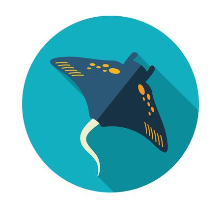 Ramp fish vector icon. Beach. Summer. Summertime. Holiday. Vacation, Illustration