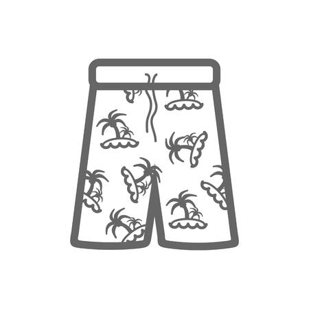 Männer Strand Shorts Umriss Vektor-Symbol. Strand. Sommer. Sommer. Urlaub, eps 10