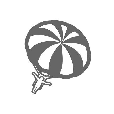 Parasailing. Summer kiting activity outline vector icon. Beach. Summer. Summertime. Holiday. Vacation, eps 10 Illustration