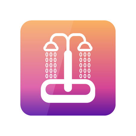 douche: Summer beach pool shower outline vector icon. Beach. Summer. Summertime. Vacation, eps 10 Illustration