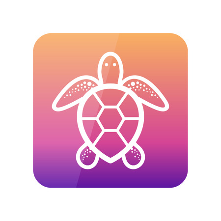 Sea turtle outline vector icon. Beach. Summer. Summertime. Holiday. Vacation, eps 10