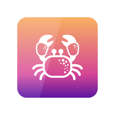 eps vector icon: Crab outline vector icon. Beach. Summer. Summertime. Holiday. Vacation, eps 10