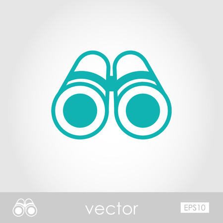 Binoculars outline vector icon. Beach. Summer. Marine. Summertime. Vacation Illustration