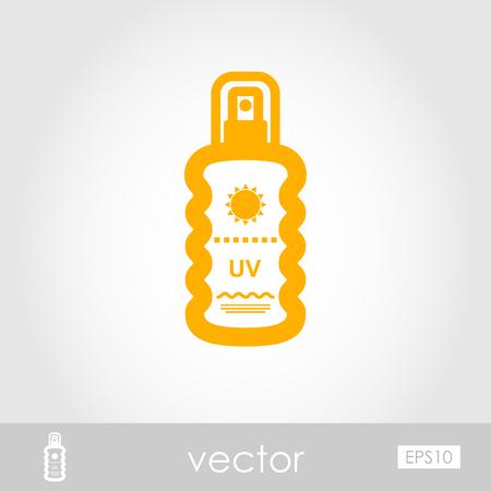 Sun Cream in Spray outline vector icon. Beach. Summer. Summertime. Vacation