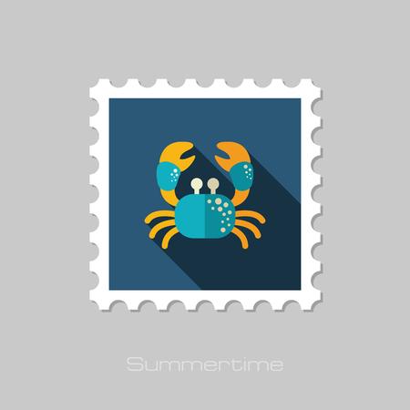 Crab vector stamp. Çizim