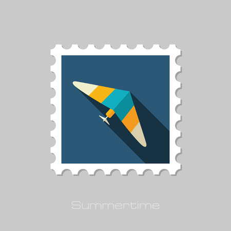 Hang Glider vector stamp. Travel. Summer. Summertime. Holiday. Vacation, eps 10