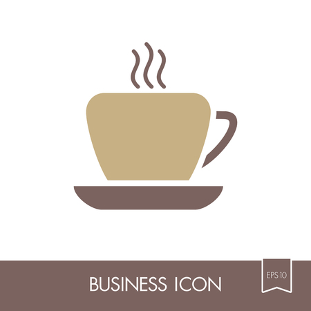 Coffee cup outline icon. Business sign. Graph symbol for your web site design, , app, UI. illustration, .