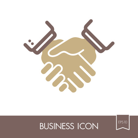Business Handshake Contract Agreement Outline Icon Graph Symbol