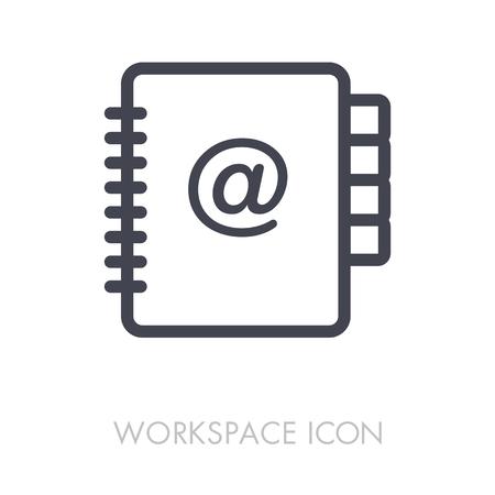 Address Book outline icon. Illustration