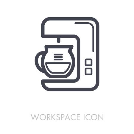 Coffee maker machine outline icon.