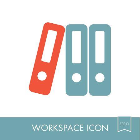 File Folder outline icon. Illustration