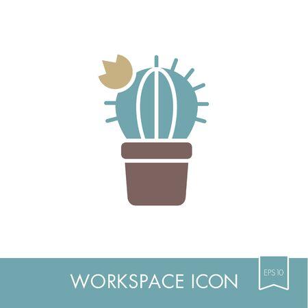 Cactus outline icon.