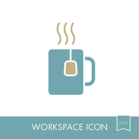 Tea Cup outline icon.