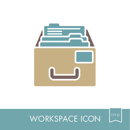 Filing Cabinet outline icon.