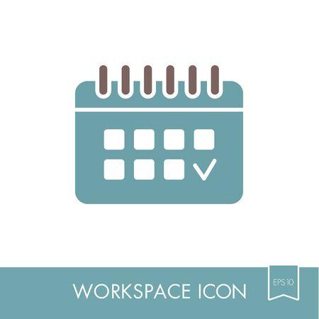 Calendar outline icon.