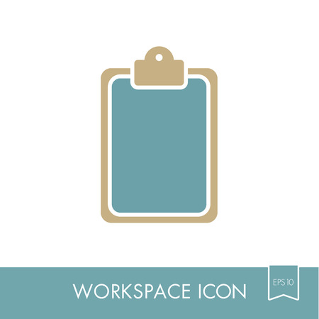 Clipboard outline icon.