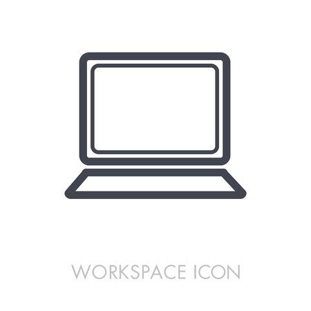 Laptop outline icon.