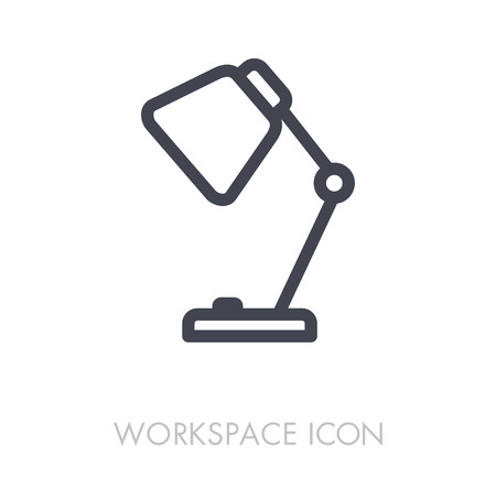 Table Lamp outline icon.