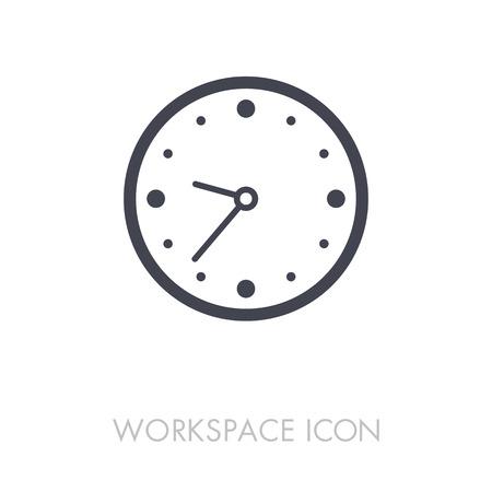 Clock outline icon. Illustration