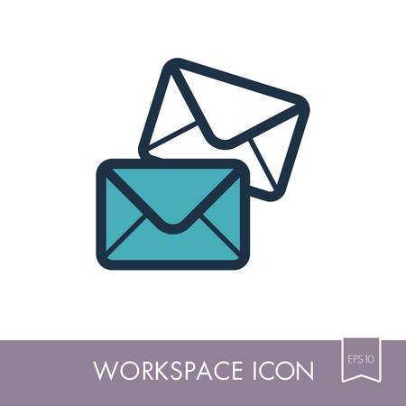 Mail outline icon.