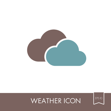 Clouds outline icon. Meteorology. Weather. Vector illustration eps 10