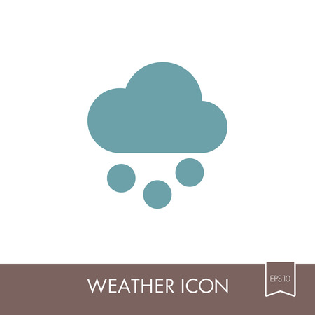 Cloud with Snow Grain outline icon. Meteorology. Weather. Vector illustration eps 10 Illustration