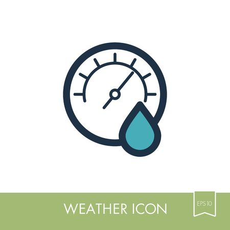Hygrometer pictogram. Meteorologie. Weer. Vector illustratie Stock Illustratie
