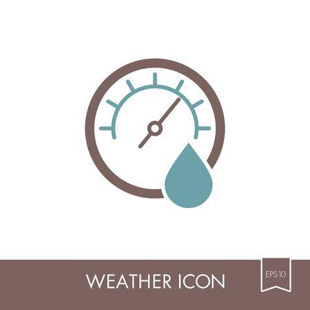 Hygrometer icon. Meteorology. Weather. Vector illustration eps 10 Illustration