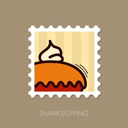 Thanksgiving Pie stamp. Harvest. Vector illustration, eps 10 Illustration