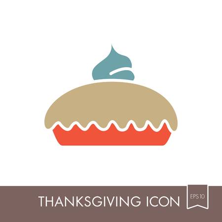 Thanksgiving Pie icon, Harvest. Thanksgiving vector illustration, eps 10
