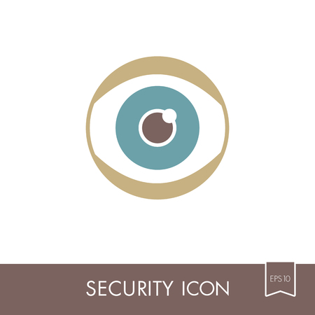 Iris scan icon isolated on white. Eye scanning, biometric recognition. Security sign. Graph symbol for your web site design.