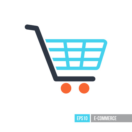 Shopping mall cart isolated vector icon. E-commerce sign. Graph symbol for your web site design, logo, app, UI. Vector illustration, EPS10.