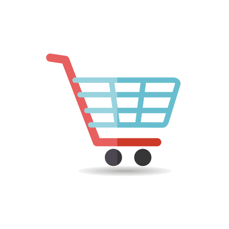 Shopping mall cart isolated vector icon. E-commerce sign. Graph symbol for your web site design, logo, app, UI. Vector illustration, EPS10. Фото со стока - 95091514
