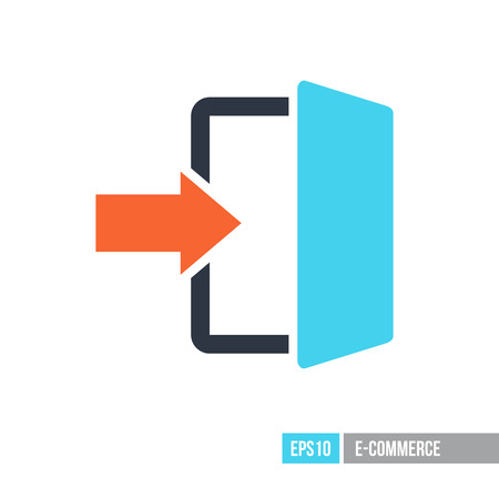 Login icon in trendy flat style. E-commerce sign. Graph symbol for your web site design, logo, app, UI. Vector illustration, EPS10.