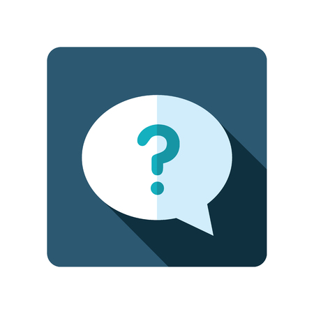 Speech Bubble With Question Mark Icon E Commerce Sign Graph