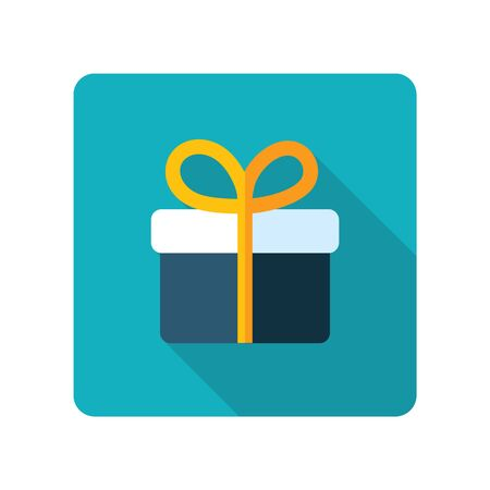 Gift icon. E-commerce sign. Graph symbol for your web site design, logo, app, UI. Vector illustration, EPS10. Illustration