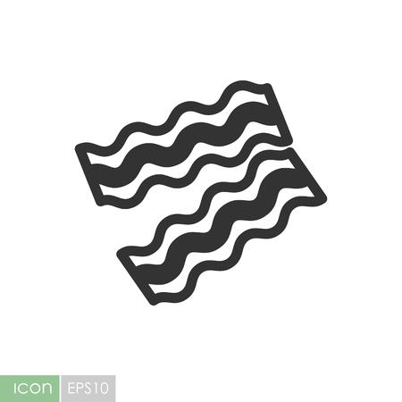 Bacon pieces icon. Graph symbol for your web site design, logo, app, UI. Vector illustration Ilustracja