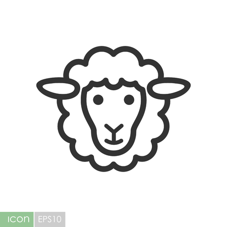 Sheep icon. Graph symbol for your web site design, logo, app, UI. Vector illustration