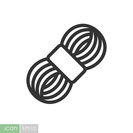 Roll of yarn icon. Graph symbol for your web site design, logo, app, UI. Vector illustration