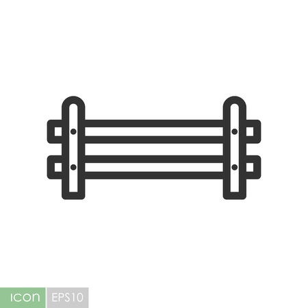 Wooden farm fence from crossed planking icon. Graph symbol for your web site design, logo, app, UI. Vector illustration Ilustração