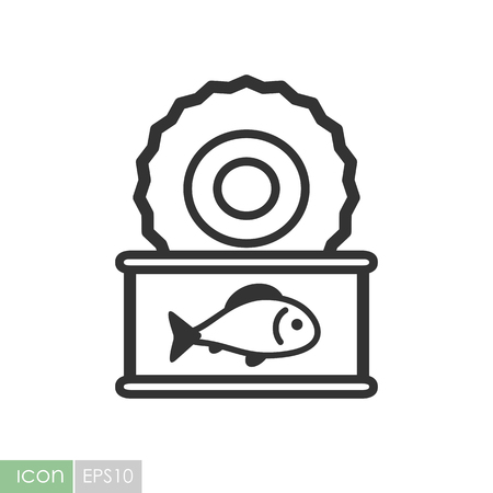 Fish preserves icon. Graph symbol for your web site design, logo, app, UI. Vector illustration Çizim