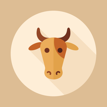 Cow icon. Animal head. Farm sign. Graph symbol for your web site design, icon, app, UI. Vector illustration.