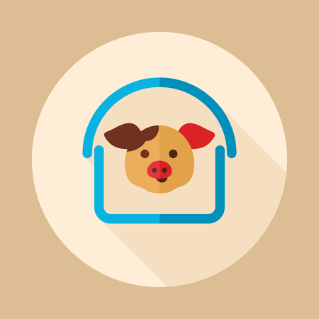 Pigsty icon. Farm animal sign. Graph symbol for your web site design, icon, app, UI. Vector illustration.