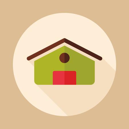 Scheune-Symbol. Nutztier Zeichen. Diagrammsymbol für Ihr Website-Design, Symbol, App, Benutzeroberfläche. Vektor-illustration Standard-Bild - 96903685