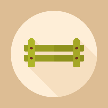 Wooden farm fence from crossed planking icon. Farm animal sign. Graph symbol for your web site design, app, UI. Vector illustration