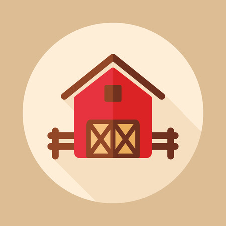 Barn icon. Farm animal sign. Graph symbol for your web site design, app, UI. Vector illustration Illusztráció