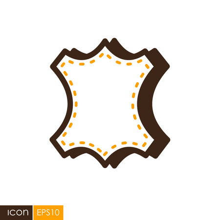 Leather icon. Farm animal sign. Graph symbol for your web site design, logo, app, UI. Vector illustration