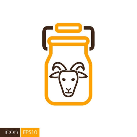 Can Container For Milk Icon Farm Animal Sign Graph Symbol For