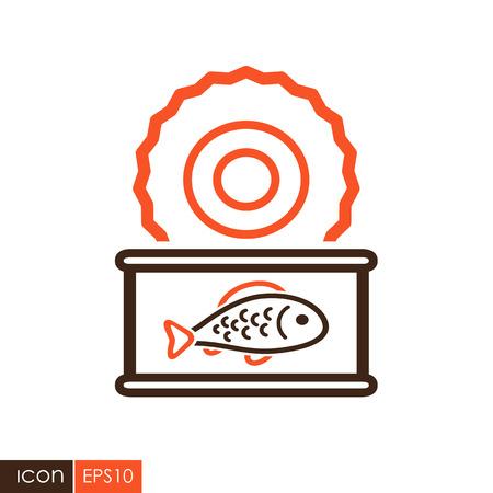 Fish preserves icon. Farm animal sign. Graph symbol for your web site design, logo, app, UI. Vector illustration