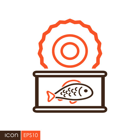 Fish preserves icon. Farm animal sign. Graph symbol for your web site design, logo, app, UI. Vector illustration